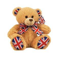 """Rétro mignon super doux style traditionnel union jack teddy bear - 20cm 8"""" nouveau uk"""