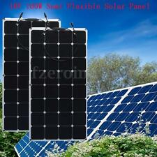 2x 100W 18V Mono Solar Panel Semi Flexible Battery Charger For Boat Car Caravan