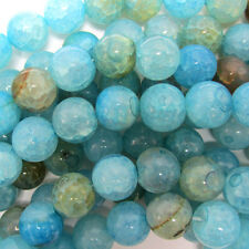 "10mm blue crab fire agate round beads 14.5"" strand"