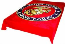 Red US Marine Corps New Korean Style cozy Queen size Blanket