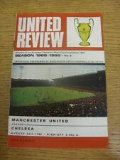 24/08/1968 Manchester United v Chelsea  (Rusty Staples, Blank Token). Condition: