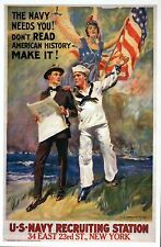 The Navy Needs You, Military Recruiting Poster Image, New York - Modern Postcard
