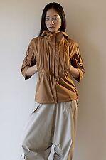 Ailin $525 New Hard Shell Pin-Tuck Jacket Large eco-travel