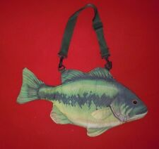 Large Mouth Bass Fish Insulated Lunch Box Tote Cooler Bag New