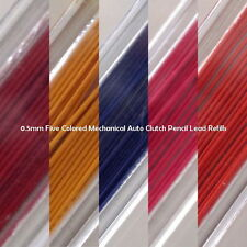 2 Cases from 5 Colors - 0.5mm - 2B - Mechanical Auto Clutch Pencil Lead Refills
