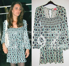 Rare LIPSY Stephanie geometric retro patterned jersey mini dress tunic 10 12 ASO