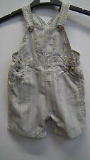 John Lewis Baby Striped Cotton Short Dungarees age 12-18 months
