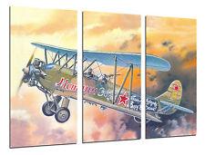 Cuadro Moderno Aviación, Dibujos Aviones Antiguos, Aviones de Guerra, ref. 26456