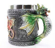 Green Royal Dragon Mug Serpent Handle Medieval Collectible Stein Home Decor Gift