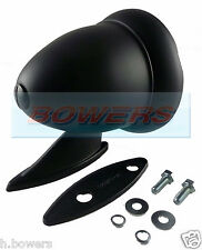 BLACK BULLET TORPEDO EXTERIOR WING DOOR MIRROR CLASSIC VINTAGE SPORT RACING CAR