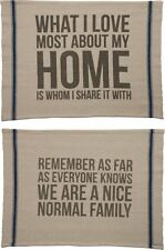 2 Sided Quote Throw Rug Gift What I Love Most About Home / Nice Normal Family