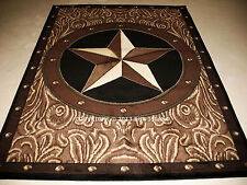 "5x8 (5'3"" x 7'2"") Texas Star Rustic Cowboy Western Brown Area Rug"