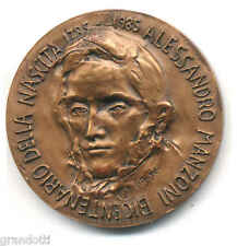 ALESSANDRO MANZONI MEDAGLIA CELEBRATIVA BICENTENARIO NASCITA 1985