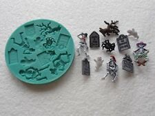Silicone Mould HALLOWEEN CEMETERY Sugarcraft Cake Decorating Fondant / fimo mold