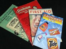 Lot of Vintage Manuals First Aid General Electric Refrigerator Sun Beam Frypan