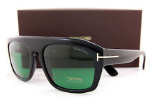 Brand New Tom Ford Sunglasses TF 0470 470 01N Black/Green for Men Women