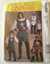 McCalls Pattern M5500 - Kids Knight, Prince & Samurai Costumes - Sizes 3-8 Uncut