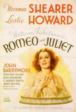 ROMEO AND JULIET Movie POSTER 27x40 Leslie Howard Norma Shearer John Barrymore