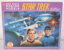 STAR TREK 300 PIECE PUZZLE POSTER SIZE SPOCK CAPTAIN KIRK 5220 GOLDEN 1993 FSNIB