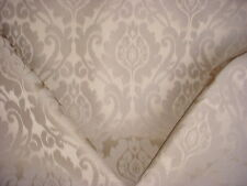 9+Y SCHUMACHER SANDSTONE ROMANESQUE FLORAL SCROLL DAMASK UPHOLSTERY FABRIC
