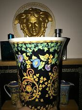 VERSACE FLOWER POT VASE ROSENTHAL GOLD IVY RETIRED $450 SALE