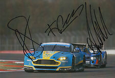 Rees, MacDowall, Stanaway Aston Martin Hand Signed 7x5 Photo 2015 Le Mans 3.