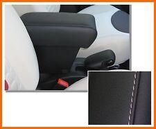 Mittelarmlehne PREMIUM für FIAT 500L (2012 ) schwarzem Kunstleder+weißen Nähten-