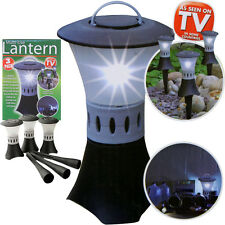 3 x GARDEN LANTERNS LED LIGHTS LAMP POST INDOOR OUTDOOR BBQ PARTY AS SEEN ON TV