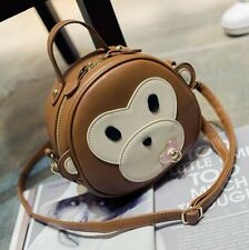 New Cute Monkey Cartoon Shoulder Bag Fashion Women Round Handbag Crossbody Bag