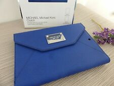 BNWT Michael Kors Sapphire Saffiano Leather iPad Mini Tablet Case Cover Clutch