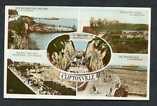Multiviews of Cliftonville. 1 Penny Red Postal Union Stamp & Postmark - 1929