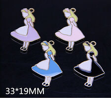 20 pcs Alice in wonderland Charms necklace pendants DIY Jewellery Making crafts