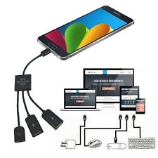 Micro USB HUB 3 Port to 1 OTG  Cable Convertidor Adaptador Extensor Para Cable