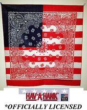 *USA MADE US FLAG PAISLEY American Bandana BANDANNA Scarf Head Wrap Face Scarve