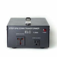 2000 W Watts Step Up/Down Voltage Converter Transformer