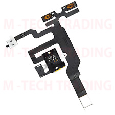 BRAND NEW ORIGINAL IPHONE 4S INNER WHITE HEADPHONE AUDIO VOLUME MUTE JACK FLEX