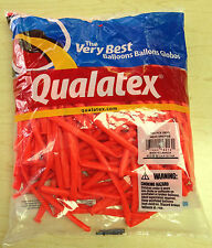 Qualatex Neon Orange 260Q Entertainer Balloons ~100 ct. **FREE SHIPPING**