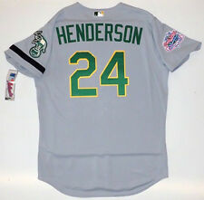 RICKEY HENDERSON AUTHENTIC OAKLAND A's 1989 WORLD SERIES MAJESTIC  ROAD JERSEY