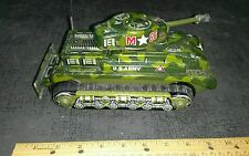 Vintage tin battery operated toy T.N made in japan tank mystery action toy