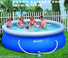 Family Swimming Pool Bestway Large Inflatable Above Ground Pool w/ Filter
