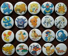 20 x Pokemon Button Badges (Set 3).  Pins. Wholesale. Collector. Bargain :0)