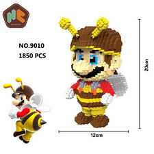 HC Game Super Mario Bee Big Figures Diamond Mini DIY Building Nano Block Toy