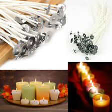 50pcs 20cm Candle Wicks Cotton Core Waxed With Sustainers For Candle Making new