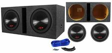 "(2) Alpine Type-R SWR-12D4 12"" 6000w Dual 4-Ohm Car Subwoofers + Vented Sub Box"