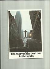 ROLLS ROYCE 'BEST CAR IN THE WORLD' CAR SALES BROCHURE LATE 1980 FOR 1981
