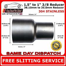 38mm to 35mm Stainless Steel Standard Exhaust Reducer Connector Pipe Tube
