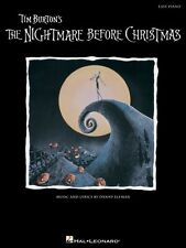 The Nightmare Before Christmas Sheet Music Easy Piano SongBook NEW 000316108