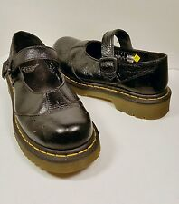 DR. MARTENS 1B66 Buckle Mary Janes  Black Leather Shoes US Women's Size 6