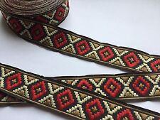 Traumschöne Borte,Ethno,Indianer,Schwarz,Caramell,Beige,Rot,16mm,3 Meter