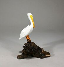 Pelican Figurine Perching New Direct from John Perry Pellucida Statue 7in Tal
